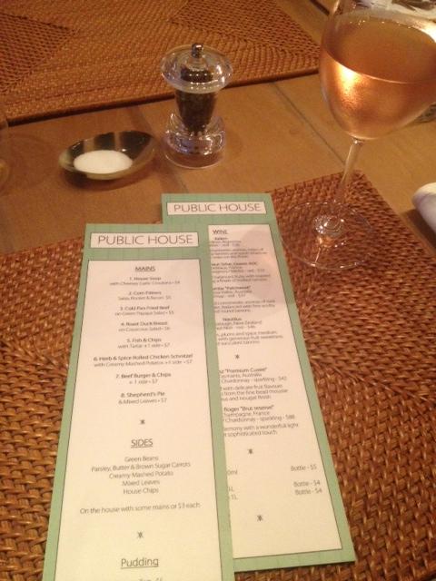 One side of menus