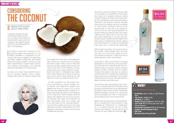 Considering the coconut